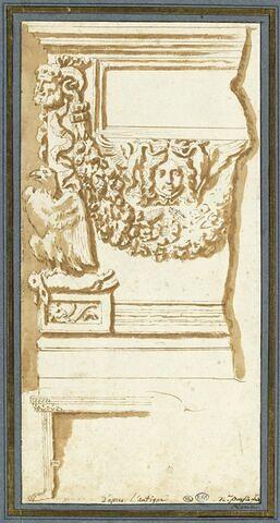 Etude d'après un autel antique