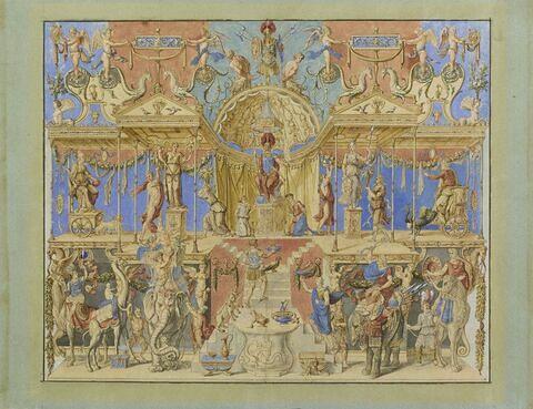 Modèle de tapisserie : attributs de l'Orient