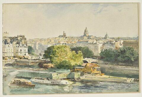 Paris et la Seine vus du Louvre