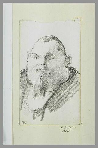 Caricature : tête d'homme à menton énorme