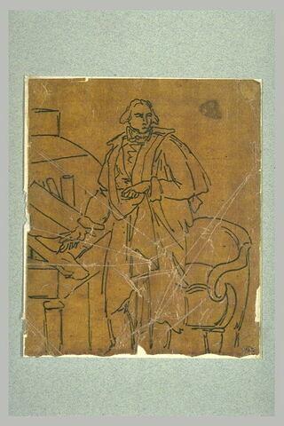 Etude pour le portrait de monsieur du chevalier de Nanteuil-Lanorville