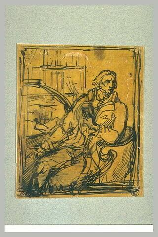 Etude pour le portrait du chevalier de Nanteuil-Lanorville (1754-1834)