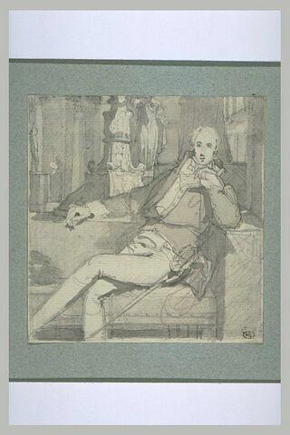 Etude pour le portrait du comte de Pradel (1782-1857)
