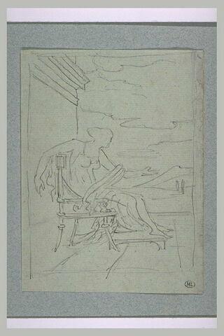 Femme dans un décor antique