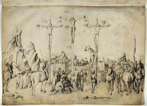 Le Christ en croix entre les deux larrons