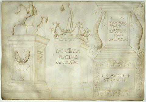 Composition fantastique de monuments culturels et commémoratifs romains
