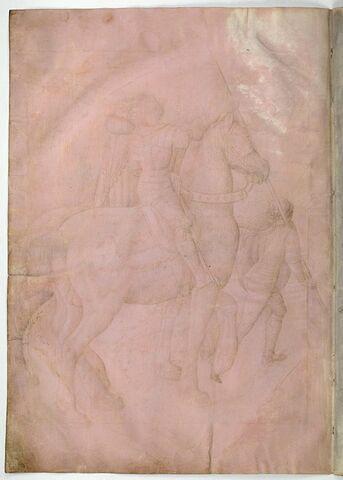Deux cavaliers avec un écuyer