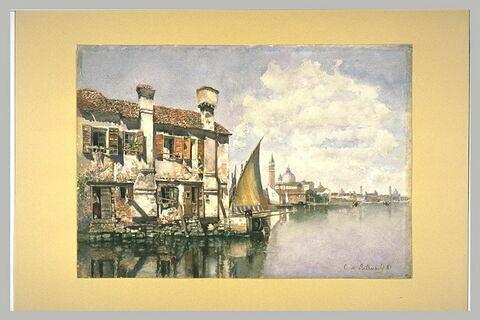 Maison de pêcheurs sur la lagune de Venise