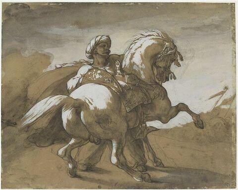 Mameluck retenant son cheval