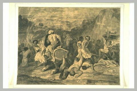 Samson assomant mille Philistins avec une mâchoire d'âne
