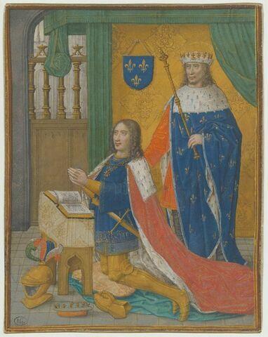 Saint Louis, roi de France, présentant Louis XII, roi de France, en prière