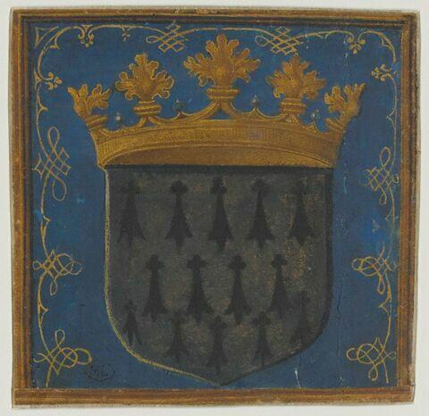 Écu aux armes de Bretagne sommé d'une couronne