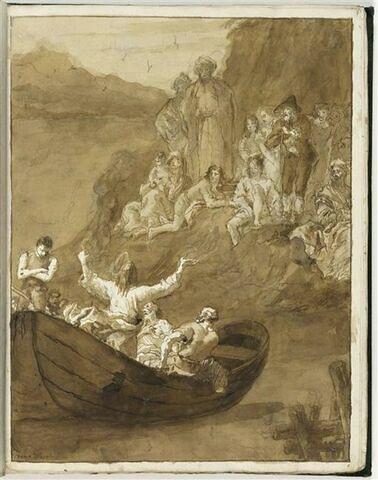 Le Christ dans sa barque prêchant sur le lac de Genesareth
