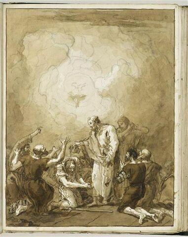Baptême de saint Paul (?) par saint Pierre et saint Jean