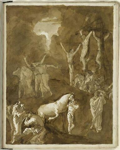 Le Christ en Croix entre les larrons