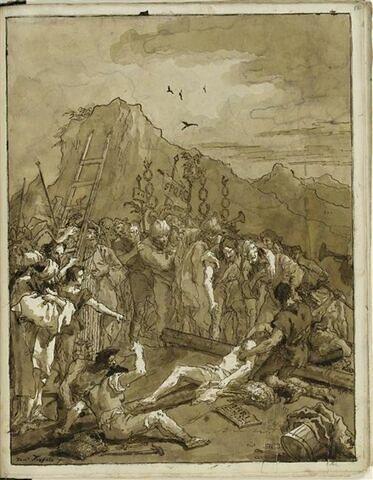 Le Christ cloué sur la Croix