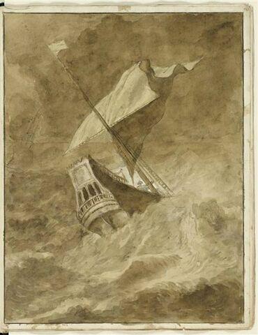 Deus bateaux dans une mer agitée