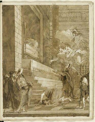 L'Adoration de l'Arche d'Alliance par sainte Anne ou la Vierge (?)