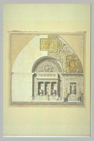 Elévation pour l'ancienne Salle de Vénus, au Louvre