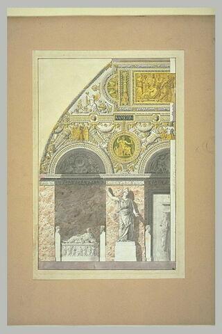 Elévation pour l'ancienne salle de Vénus au Louvre