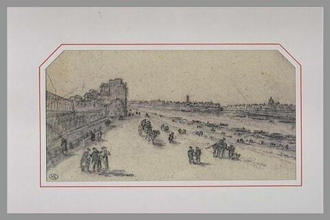 Vue du quai du Louvre à Paris