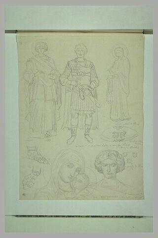 Mont Athos, monastère de la Grande Lavra. Etude des fresques du réfectoire