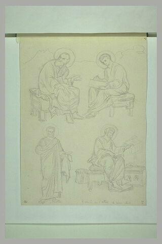 Mont Athos, Kariès, fresques de l'église du Protaton : évangélistes