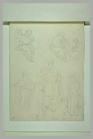 Mont Athos, Karyès, fresques de l'église du Protaton : figures de saints