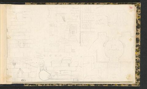Messène, détails des remparts et de la porte d'Arcadie