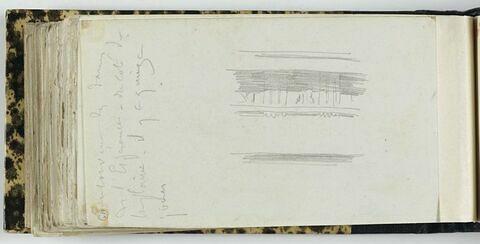 Notes manuscrites ; élément de décor
