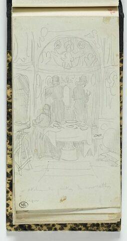 Mont Athos, atelier de peintre au monastère d'Iviron