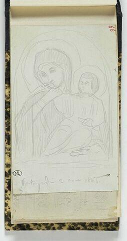 Mont Athos, image de la Panaghia au couvent de Vatopedi