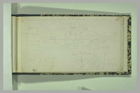 Delphes, murs cyclopéens couverts d'inscriptions
