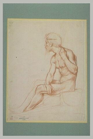 Vieillard nu, assis, tourné à gauche : Bélisaire ?