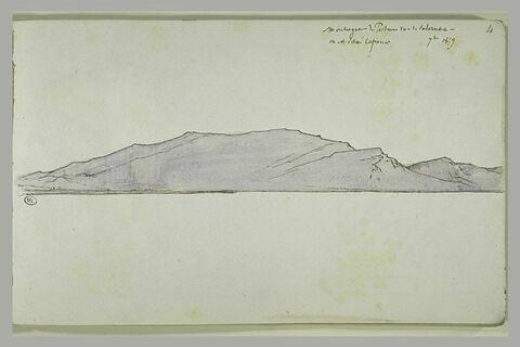Montagne de Paestum vue de Salernes