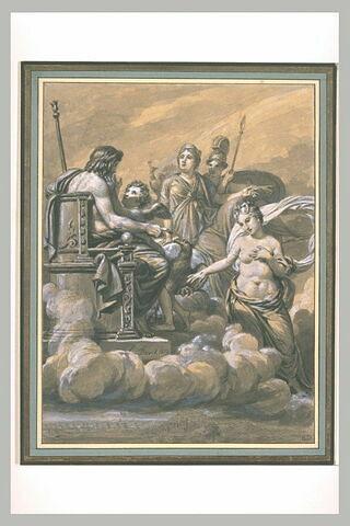 Vénus blessée par Diomède implore Jupiter