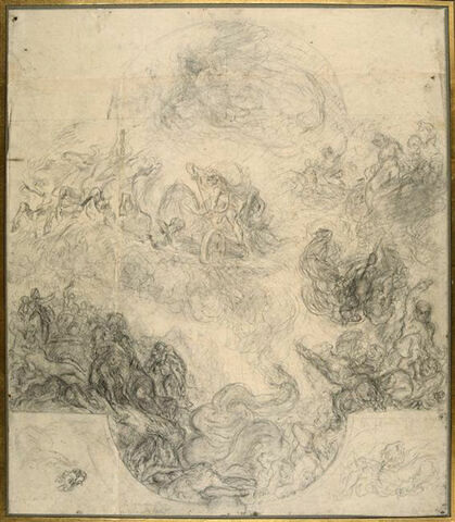 Première pensée du plafond de la Galerie d'Apollon