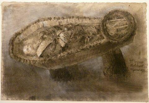Napoléon III dans son cercueil à Chiselhurst