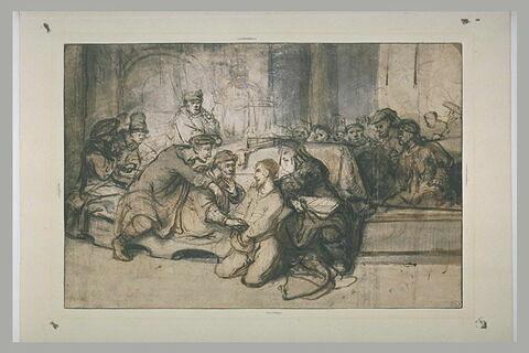 Le prix du sang : Judas rendant les deniers