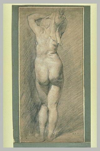 Etude de femme nue, vue de dos