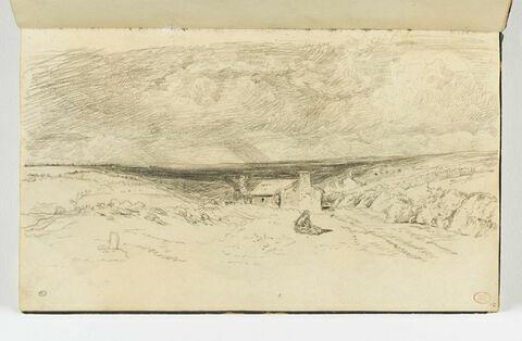 Paysage panoramique de la route de Falaise