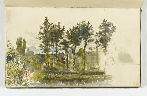 Les bords de l'Orne, près de Pont d'Ouilly