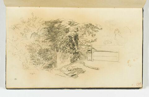 Paysage avec une barrière, à Falaise