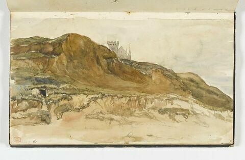 Chateau ou forteresse sur une falaise, à Houlgate