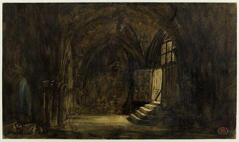 Intérieur de cloître à Rouen