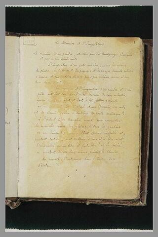 Notes manuscrites : 'La Mémoire et l'Imagination'