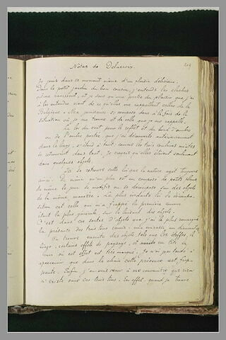 Texte manuscrit ' Notes de Delacroix'