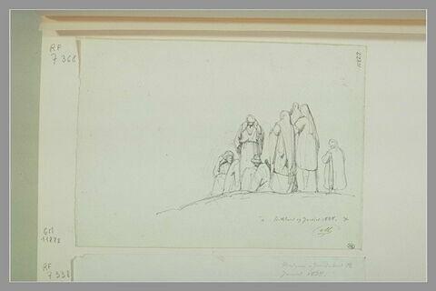Groupe de six personnes à Bethléem