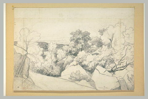 Rochers sur les hauteurs du Bas-Bréau
