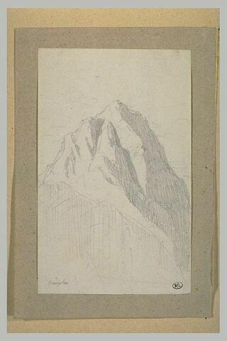 Vue d'une montagne, au Simplon